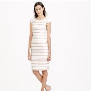 J. Crew Jackie O style pink cream striped dress